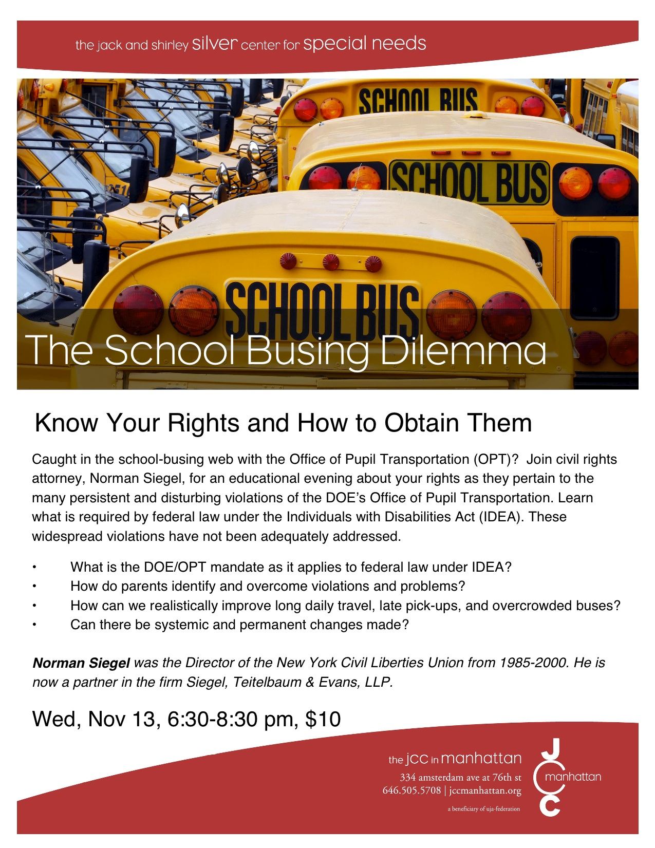 Busing Dilemma, Nov 13th