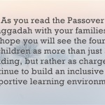 The Four Children of Our Passover Seder