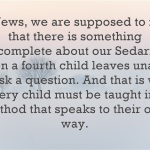 A Passover Reflection – Why Can't the Fourth Child Ask a Question?