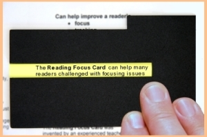 reading focus card dyslexia Matan